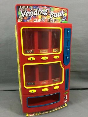 Mars CANDY BAR Vending Bank Machine M&M'S Twix Skittles Snickers Milky Way