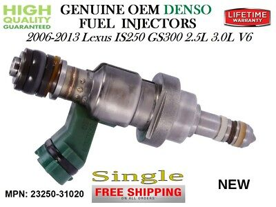 Genuine x6 OEM DENSO Fuel Injectors for 2006-13 Lexus IS250//GS300 2.5//3.0L V6