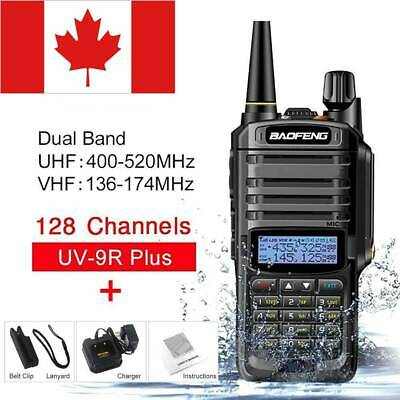 BAOFENG UV-9R PLUS Waterproof Walkie Talkie Dual Band Handheld Two Way Radio CA