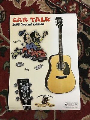 C.F. Martin Guitar Promotional Poster Limited Edition 2008 Car Talk