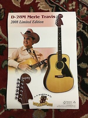C.F. Martin Guitar Promotional Poster Limited Edition 2008 D-28M Merle Travis