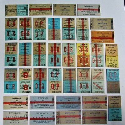 Victorian Railways ..64 Original Country Issued.. Tickets  All Different Set 4