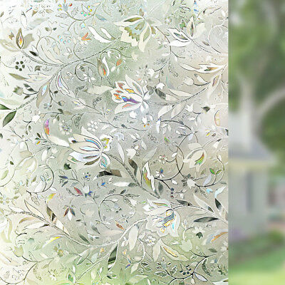 Premium No Glue 3D Static Decorative Frosted Privacy Window Films for Glass