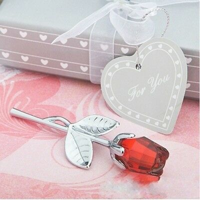 Practical Crafts Valentine's Day Decoration Mini Crystal Rose Flowers Gifts