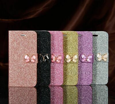 Bling Glitter Magnetic Flip Cover Stand Wallet Leather Case For iPhone 6s XR 7 8
