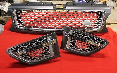 LAND ROVER RANGE ROVER SPORT 2009-2013 FRONT GRILL AND AIR VENTS SET 3 pcs