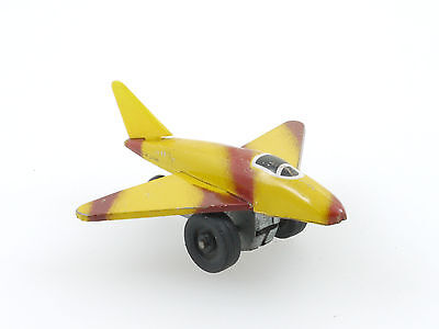 Japan Pennytoy Flugzeug Jet Airplane Blech Friktion Funktion OK 1410-14-35