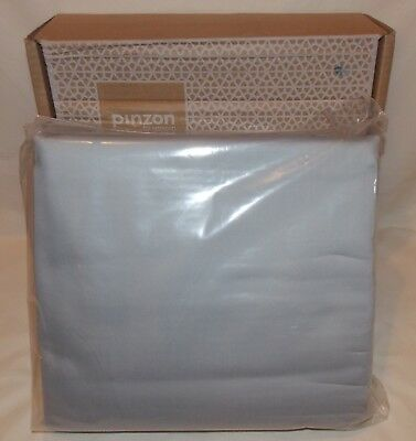 Pinzon 400-Thread-Count Hemstitch Egyptian Cotton Sateen Full Sheet Set-L. Grey