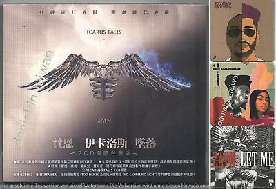 ZAYN Icarus Falls (2018) One direction / TAIWAN 2-CD w/ SLIPCOVER & 3 COASTERS