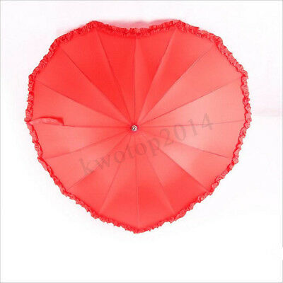 Heart-shaped Umbrella Outdoor Weddings Party Photo Shoots Dating Valentine Gift
