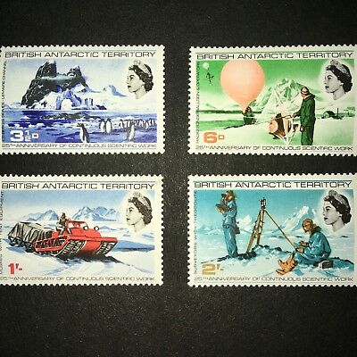 BRITISH ANTARCTIC TERRITORY,1966 Scientific Work; Scott 20-23, MNH