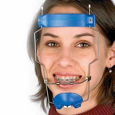3 X Dental Orthodontic Reverse Pull Facemask Face Bow Headgear Blue