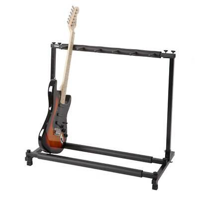 5 Way Multi Guitar Rack Padded Holder Stand Electric Acoustic Bass