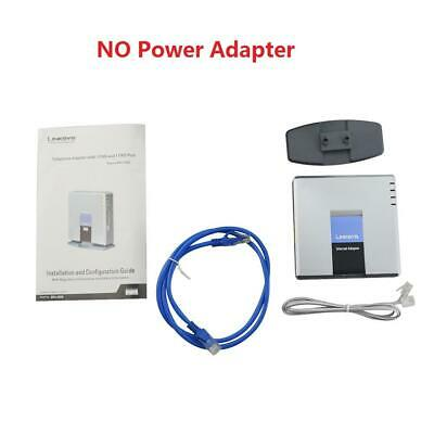 NO Power Adapter SPA3000 Unlocked Linksys Internet Phone Adapter VoIP Gateway