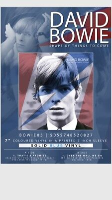 "David Bowie ""Shape Of Things To Come"" Ltd Edition 7"" Blue Vinyl - Presale"