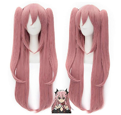 Anogol Seraph of the End Krul Tepes Cosplay Wig Pink Hair Wigs with  Ponytails 5ba5d4a2c2b3