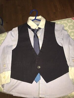 Next Boys Shirt, Tie And Waistcoat Age 3 Years
