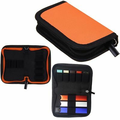 For Juul00/ Blu/ Rubi Vape Charger & Pods Holder Travel Case Carrying Wallet Bag