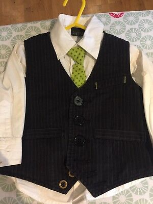 Next Boys Shirt, Tie And Waistcoat Age 1 1/2 - 2 Years