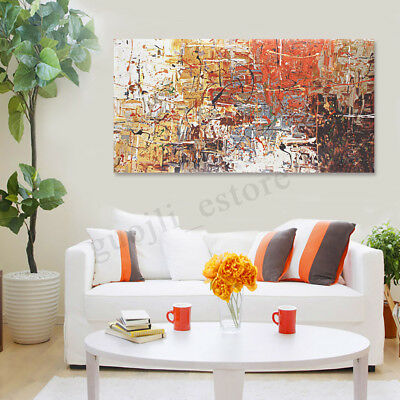 LARGE Modern Abstract Stretched Canvas Print Wall Art Home Decor Oil Painting