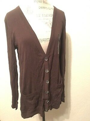 NEW Banana Republic Brown Light Sweater Cardigan Size Large L Long Sleeve  NWT f7df9ea1c