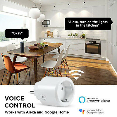 WLAN Steckdose Smart Stecker WIFI kompatibel mit Amazon Alexa/Google Home/IFTTT