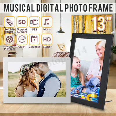 13'' 1080P HD Digital Photo Frame Album Picture MP4 Movie Player Remote Control