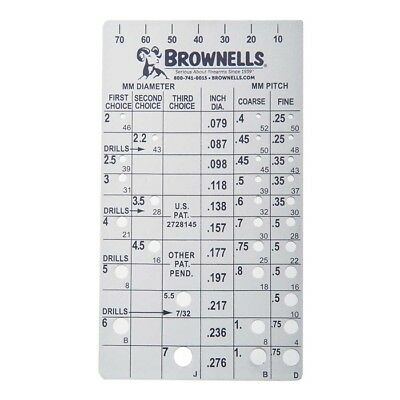 BROWNELL'S Metric Screw Checker (2mm to 7mm) STEEL