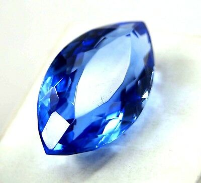 34.20 Ct GGL Certified Marquise Shape Transparent Brazilian Blue Topaz Gemstone