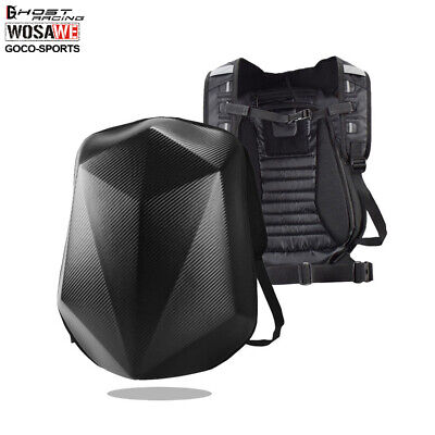 Waterproof Motorcycle Backpack Motorbike hard Shell Rucksack Shoulder Bag 36-55L