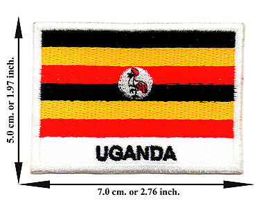 Uganda Flag Coutry Nation Sports Travel Applique Iron on Patch Sew Crafts DIY