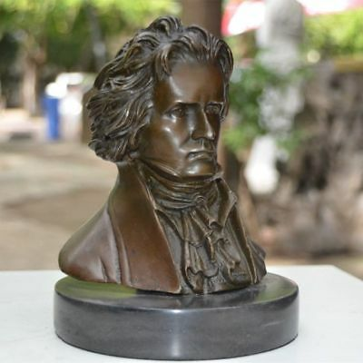 Art Deco handmade Sculpture Beethoven Musician Bronze Copper Statue