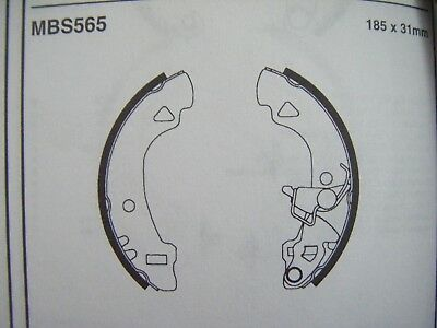 Fiat panda/uno rear brake shoes (mbs565) (93 - 95)