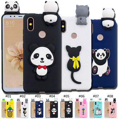 TPU Cute Silicone Shell Skin Case Cover 3D Protective Soft Gel Back For Xiaomi