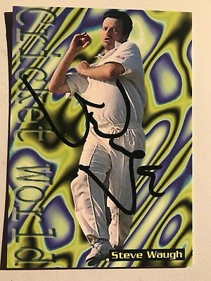 Steve Waugh  Signed Cricket Trading Card