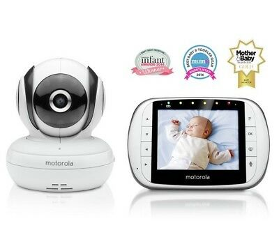 BRAND NEW Motorola MBP36S Night Vision Digital Camera Video Baby Monitor (White)