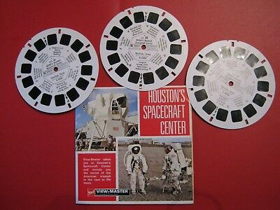 Scarce Viewmaster Reels-  Houston's Spacecraft Center  ( 3  Reels)