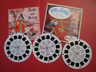 Scarce Viewmaster Reels-  Tom And Jerry Droopy Spike And Tyke ( 3 Reels)