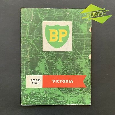 VINTAGE 1960's BP ROAD MAP OF VICTORIA BOWSER OIL BOTTLE TIN CAN PETROL