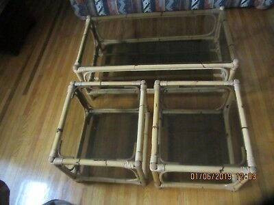 Rattan Coffee table and end tables