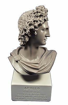 Apollo sculpture statue ancient Greek God of sun and poetry bust gb
