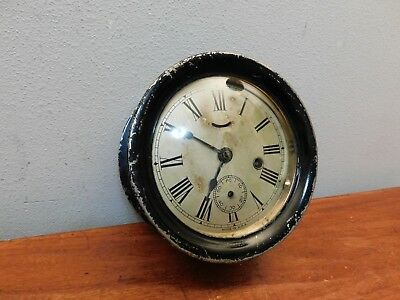 Antique Ship's Deck Style Wind Up Wall Clock