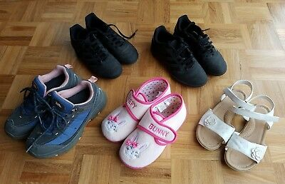 Job lot of size 1 girls shoes - 5 pairs of various styles