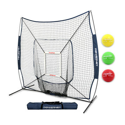 New PowerNet DLX 2.0 Baseball Softball Training Net + Progressive Weighted Balls
