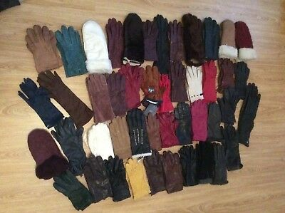 46 Pairs Of Mixed Vintage/ Retro/ Modern Gloves  Job Lot Bundle
