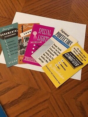 1950 Studebaker Accessory Booklets  (Set of five)