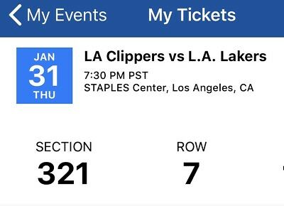 Los Angeles Lakers at Los Angeles Clippers Tickets - Los Angeles