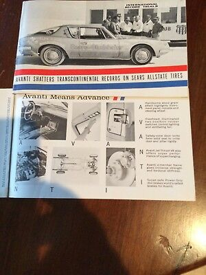 1964 Studebaker Showoom Brochure with Avanti and Sears Allstate Tire cover