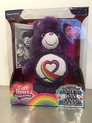Care Bears Rainbow Heart 35Th Anniversary Plush Nrfb Limited Edition