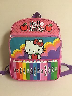 New With Tag! Hello Kitty Mini Backpack Ready For School! age 3+